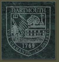 Choose from green marble or black granite for your Dartmouth College tile inlay