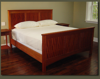 Mission Style Mahogany Bed Custom Made By Clarner Woodworks