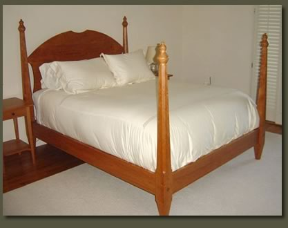 Cherry bedroom furniture | unique four poster solid cherry bed ...