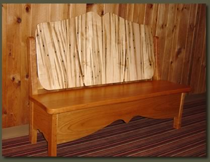 Our Tap Maple Bench proudly shows its Vermont heritage and makes a wonderful bench for an entry way or a recreation room