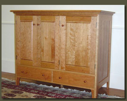 Beau This Lovely Cherry Entertainment Center Features Clean, Traditional Lines  And Frame And Panel Construction. Other Cabinets: