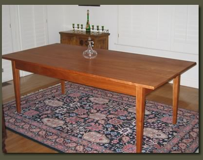 Custom made dining table | cherry wood shaker style dining room ...