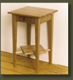 Red Birch End Table