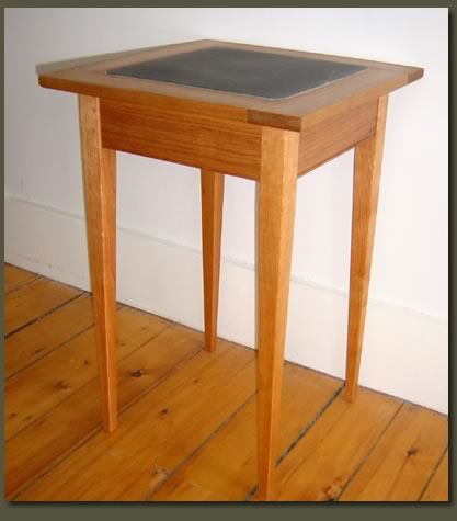 Our customizable Soapstone End Table makes a lovely wedding gift, corporate gift, graduation gift or service award