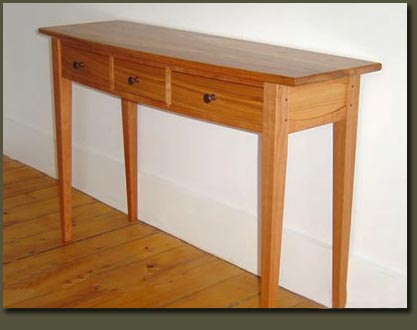 Hall Table Console | Entry Hall Table handcrafted by Vermont