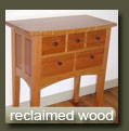 reclaimed (recycled) wood furniture