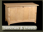 handcrafted benches and chests