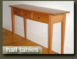 handcrafted hall tables