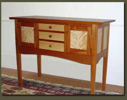Custom built Mahogany sideboard buffet | handmade kitchen and dining ...